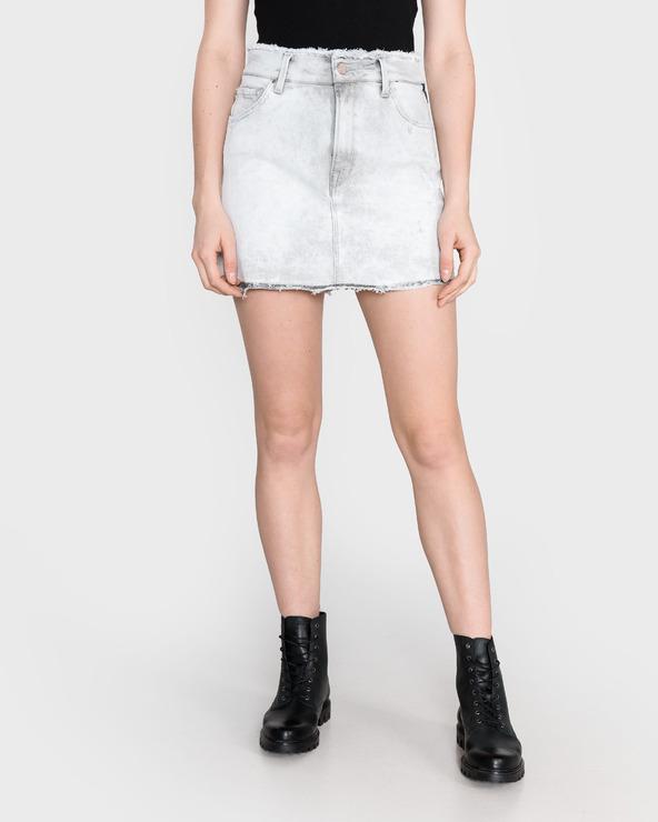 Replay Spódnica Biały Szary