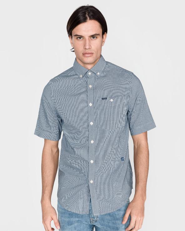 G-Star RAW Koszula Niebieski Biały